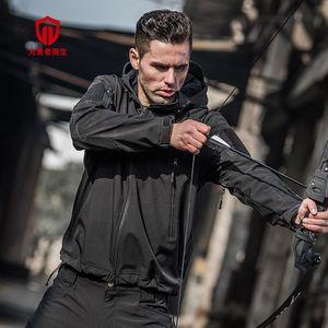 Tactical Jacket Waterproof Camouflage Windbreaker Mens Army Fleece Hooded Coat Camo Windproof Hunting Softshell Jackets