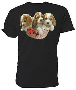 Бигль Собака, I Love гончих Выбор размера цветов! Дышащие дизайнеры балахон футболки Толстовка