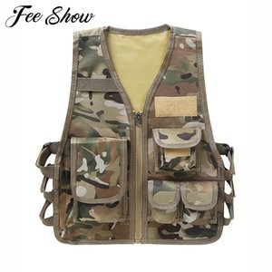 Children Camouflage Sniper Vest Hunting Clothes Kids Boy Girl Woodland Ghillie Suit Army Tactical Uniform Jungle Combat Clothing Y200919