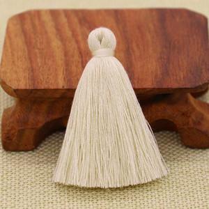 30 pz 5 cm poliestere in cotone nappa frangia pendente del ciondolo fai da te craft di fai da te piccola nappa tagliata indumenti tende decorazione orecchini gioielli componenti h jllzem