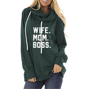 Luva longa carta Hoodies Ladies MOM Fashion Trend Hat Collar Camisola encapuçado Designer Feminino Outono Nova Cordão soltos Moletons