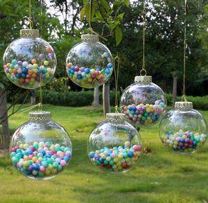 The latest PET plastic Christmas decoration ball transparent Christmas ball customization Party DIY Christmas tree decoration pendant