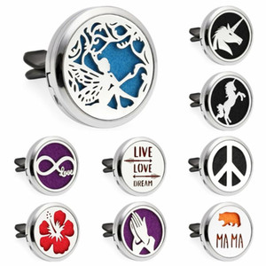 Pretty angel Lotus lovely dog Car vent clips Diffuser locket parfum Essential Oil Perfume locket Magnetic medallion with 10 Pads