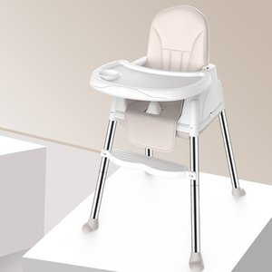 3 Color Multifunctional Adjustable Tray Foldable Portable Kids Baby High Chair With Wheeled Seat Cushion Baby Feeding High Chair LJ201110