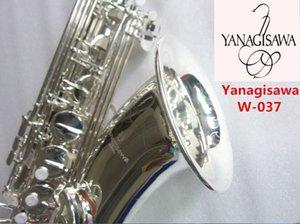 Japon New professionnels Yanagisawa W-037 Argent Saxophone Ténor Sib Saxopfone Tenor instruments de musique Jouer à Super Sax Embouchure avec étui