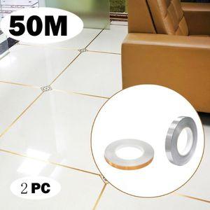 4PC 50m Ceramic Tile Mildewproof Gap Tape Self-adhesive Floor Decorative Line Stickers High Quality Ground Stitching Stickers
