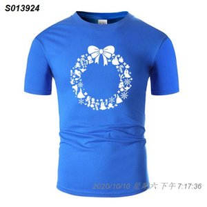Personnaliser personnalisé de Noël T-shirt Lettre anti-rides armée verte de base solide Harajuku Hommes T-shirt Camisas 25181410