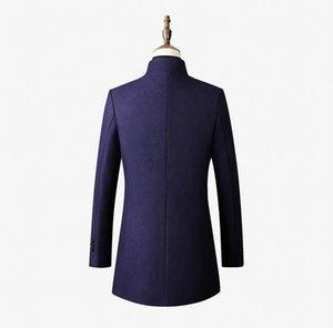Designer Mantel Fit Herbst Mäntel Wolle Breasted Mode Winter Größe Parka Verdicken Dünne Einzelbekleidung Jacke Long plus Männer Männer Trenc JDDQ