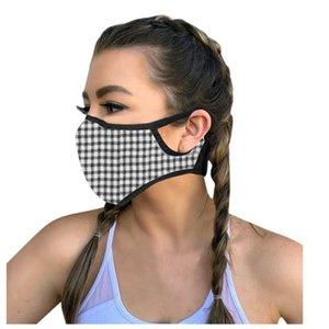 Máscaras dos EU Stock Com o Pocket Adulto Moda Imprimir Filtro PM2.5 Colar Design Pattern Ciclismo Protective Sports Dustproof Respirador Rosto