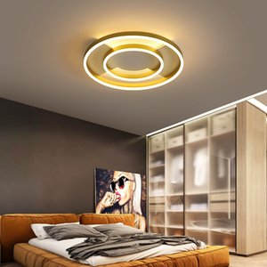 Iron master bedroom lamp led ceiling light thin simple modern warm romantic creative acrylic home lighting RW470