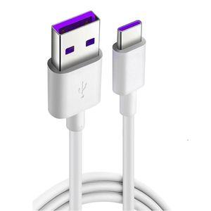 1M 5A Superladungskabel Typ-C für Huawei Samsung S8 S10 MOTO LG Kabeltyp C USB Super Charge Schnell schnell Ladekabel