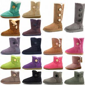 ugg uggs حار مصمم مشبك مصغرة قصيرة الثانية بيلي القوس طويل القامة زر الثلاثي أستراليا إمرأة المرأة التمهيد الشتاء الثلوج الأحذية الفراء فروي الجوارب الأسترالية
