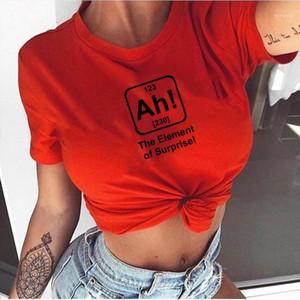 Kadın Komik T-Shirt Mektubu Sürpriz Baskı Kısa Kollu O Boyun Serin Tees Casual Tops Hipster Giyim Kıyafetleri1