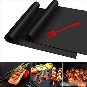 BBQ Mat Grill Mat Non-Stick Reusable BBQ Cover Cooking Baking Microwave Mats Resuable Barbecue Sheet Pad Heat Resistance Grill Mat