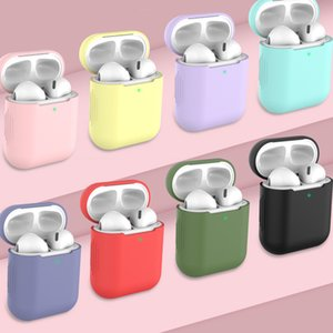 Universal For Airpods 1 2 Case Cover Wireless Bluetooth Headphones Protector Cover Silicone Air Pods Cases 2 Airpod 1 Earbuds Airpods Cases