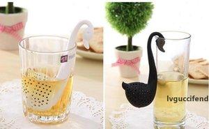 Yeni Nolvety Hediye Swan Kaşık Çay Süzgeç demlik Çay kaşığı Filtre Yaratıcı Plastik Çay Araçları Mutfak Aksesuarları DHL ücretsiz