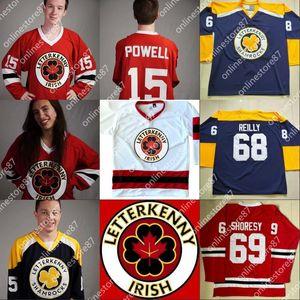 Ирландский сериал Letterkenny Jersey 15 Powell 69 Shoresy 68 Clover 85 Sнутренний мальчик 100% Настройка сшитого хоккея на льду