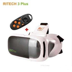 RITech III RIEM 3 Plus Realidade Virtual 3D Glasses VR Headset Capacete Papelão Mobile Phone Video Cinema Remote Control