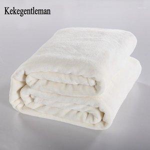 Kekentleman plaid sólidos mantas sólidas sofá / lecho lanza franela manta 200 * 230cm Hoja de cama caliente de invierno Queensize1