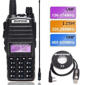 2020 BaoFeng UV-82T Tri-Band Walkie Talkie ham vhf 220-260Mhz uhf band amatuer handheld Two Way portable Radio uv-5r1