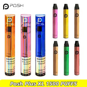 POSH PLUS XL Disposable Devices Vape Pen 1500 Puffs Pods Starter Kit Prefilled Cartridge Vaporizers e Cigs Vapor