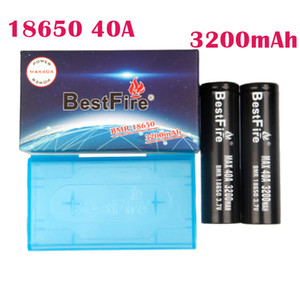 Authentic BESTFIRE 3200MAH 40A 18650 Battery Black Color Rechargeable Lithium Vape Mod Battery Max Discharge 40A DHL