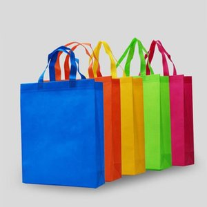 New colorful folding Bag Non-woven fabric Foldable Shopping Bags Reusable Eco-Friendly folding Bag Storage Bags sea shipping GWE10484