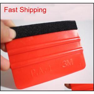 Blue And Red Optional With Cloth Scraper Color Film Soft Scraper Wool Cloth Square Scraper Car Foil Tool qylvsP garden2010