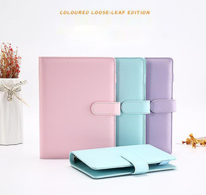 A6 Notebook Binder PU Faux Leather Cover 19*13cm Loose Leaf Notebook without Papers File Folder Spiral Planners 4 Colors