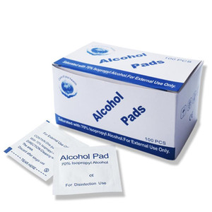 2021 100pcs box Portable Alcohol Disinfection Tablet Alcohol Pad Swabs Wipes Skin Antibacterial Tool