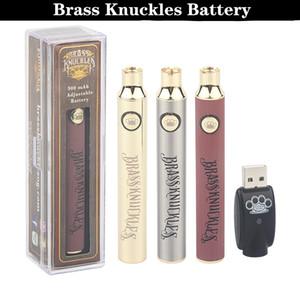 Brass Knuckles Battery 650mAh 900mAh Variable Voltage Preheat E-Cigarette Battery Pen For 510 Thraed Thick Oil Cartridge Vape Battery