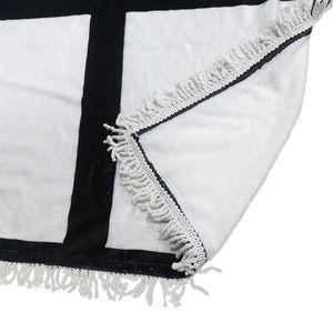 9 penels blankets Sublimation blank blanket with tassels Heat transfer printing shawl wrap sofa sleeping throw blankets 125*150cm