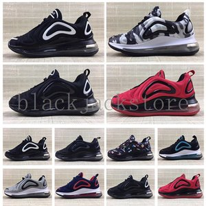 2020 hot Infant Kids Tn Running Shoes Air Cusion Grey White Black Children Sport Shoes Toddler Trainer Rainbow Boy and Girl Tns Sneaker V5AB