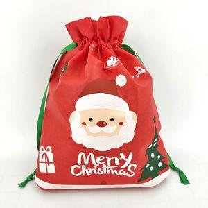 DHL судостры рождественские красные сумки для шнурок нетканые подарочные мешок вечеринка конфеты подарочная сумка рождественские праздничные украшения
