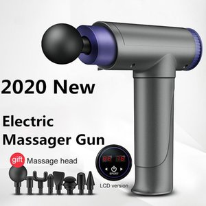 2020 New Profession Massage Gun Electric LCD Display Deep Fascia Massager Electric Muscle Pain Exercising Relaxation Slimming