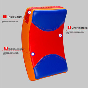 PU Leather Sanda Durable Boxing Pad Kicking Curved Ergonomic Design Fighting Punch Bag Taekwondo Training Indoor Sports Workout