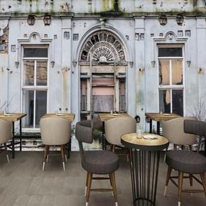 Dropship Fototapete 3D-Stereo Custom Mural Retro Nostalgie Building Plant Mural Hintergrund Wall Restaurant Bar Tapete