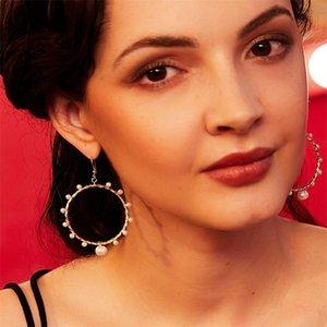 European and American pearl earrings freshwater natural baroque earrings female Europe and America