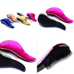 Портативная парикмахерская расческа Многоцветный милый массаж Combs сухие мокрые доступные волосы кисти хорошие волосы стильные инструмент 4 5BK E2