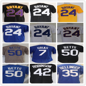 2021 NOVO 8 24 Bryant 35 Cody Bellinger 50 Mookie Betts Stitched Baseball Jersey