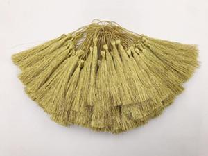 15 pcs ouro silk silk seda borla pingente de jóias cortina de jóias vestuário decorativo acessórios chave saco de chave pingente artesanato borls diy h bbywvl