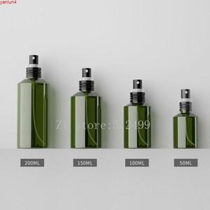 50ml100ml150ml200ml 50 pcs vazio cosmético recipiente de spray de névoa de plástico, diy verde escuro animal de estimação claro recarregável garrafa shell packagehigh qualtity