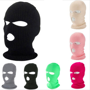 3 trous masque facial Masque de ski d'hiver Cap Balaclava capot moto Casque de moto Casque intégral Armée Masque Protection