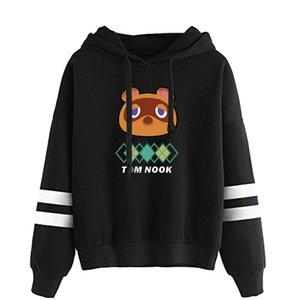 Rholycrown 2020 moda quente cair 2d impressão animal floresta moletom homens camisola feminina meninos meninas com capuz jaqueta preto top