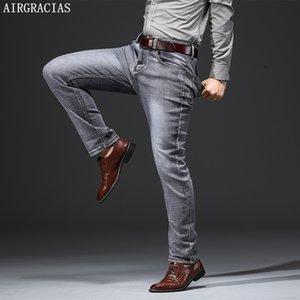 Airgracias Klasik Retro Nostalji Düz Denim Jeans Artı Boyutu 28-38 Erkekler Marka Uzun Pantolon Pantolon