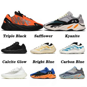 kanye west 700 380 v2 v3 NUOVA QUALITÀ 2021 Kyanite 700 Orange Runner Running Shoes Safflower Azareth Bright Blue Calcite Glow Uomo Donna Scarpe da ginnastica statiche 36-46