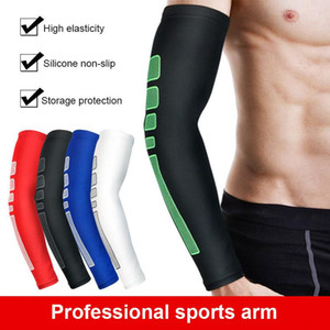 1PCS Men Women Anti-UV Cuff Running Arm Warm Antiskid Silicone Riding Cycling Arm Sleeves Basketball Armband Sport Elbow Wrist