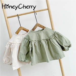Baby Shirts Girls Children Spring And Autumn 2020 New 1-3 Year Old Children's Coat Long Sleeved Shirt LJ200828