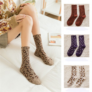 Autumn Winter Socks for Women Warm Thick Soft Wool Sock Leopard Print Sleep Home Sockings Fuzzy Cozy Crew Socks Christmas Gift X707FZ