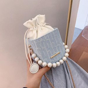 Women's pearl chain shoulder bag 2020 new fashion wild summer net red small square bag